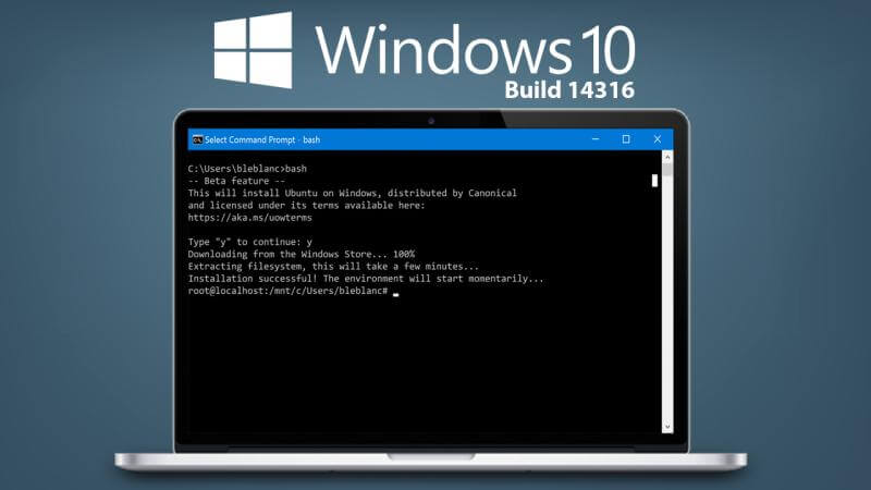 Ubuntu Bash for Windows 10